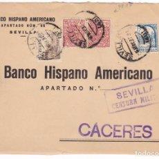 Sellos: CM3-27- GUERRA CIVIL. CARTA SEVILLA 1937. FRANQUEO CID Y FISCALES PERFORADOS. CENSURA Y LOCAL. Lote 133847690