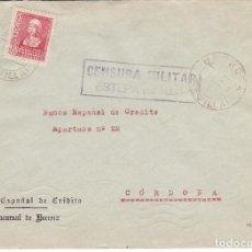 Sellos: CM3-27- GUERRA CIVIL. CARTA HERRERA 1938. RARO BISECTADO 1/3. CENSURA ESTEPA Y LOCAL. Lote 133848070