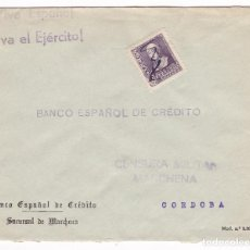 Sellos: CM3-28- GUERRA CIVIL. CARTA MARCHENA 1939. MATASELLOS PLUMA. LOCAL Y CENSURA . Lote 133848798