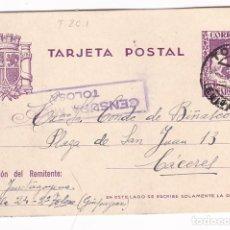 Sellos: CM3-28- GUERRA CIVIL. EP TOLOSA.1938. CENSURA . INTERESANTE TEXTO PRESO EN CELLA (TERUEL). Lote 133849210