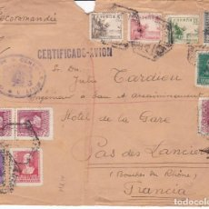 Sellos: CM3-29- GUERRA CIVIL. CERTIFICADO MADRID -FRANCIA 1939. CENSURA . BONITO FRANQUEO. Lote 133849498