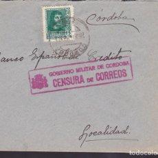 Sellos: CM3-29- GUERRA CIVIL. CARTA CORREO INTERIOR CÓRDOBA 1938. LOCAL Y CENSURA. Lote 133849850