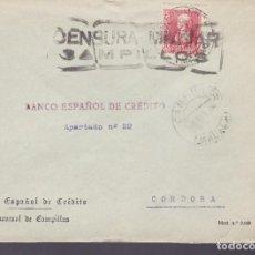 Sellos: CM3-36- GUERRA CIVIL. CARTA CAMPILLOS 1938. LOCAL Y CENSURA COMPLETA 93 X 27 MM. Lote 133853150