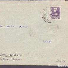Sellos: CM3-37- GUERRA CIVIL. CARTA VALVERDE DEL CAMINO (HUELVA) 1939. LOCAL Y CENSURA . Lote 133853514