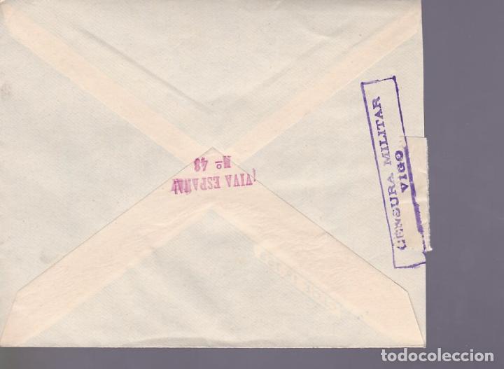 Sellos: CM3-37- Guerra Civil. Carta SALVATIERRA (Pontevedra) 1937. Local , Cierre Censura VIGO - Foto 2 - 133853778