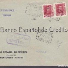 Sellos: CM3-42- GUERRA CIVIL.CERTIFICADO PUENTE GENIL (CÓRDOBA) 1938. LOCAL Y CENSURA. Lote 133868078