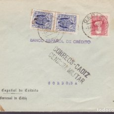 Sellos: CM3-42- GUERRA CIVIL.CARTA CADIZ 1939. FISCALES . LOCAL Y CENSURA . Lote 133868118