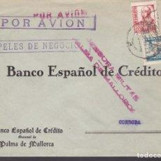 Sellos: CM3-43- GUERRA CIVIL. CARTA PALMA MALLORCA 1938. LOCAL Y CENSURA. AMBULANTE. Lote 133868222