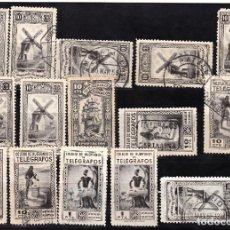 Sellos: LOTE HUERFANOS DE TELEGRAFOS Y MUTUALIDAD DE CORREOS. Lote 133870786