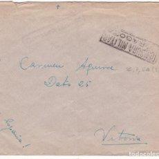 Sellos: CM3-61- GUERRA CIVIL. CARTA ACADEMIA GRAL MILITAR ZARAGOZA 1937. . CENSURAS. Lote 133984598
