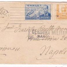 Sellos: CM3-61- GUERRA CIVIL. CARTA BARCELONA- ITALIA 1939. CENSURA . Lote 133984646