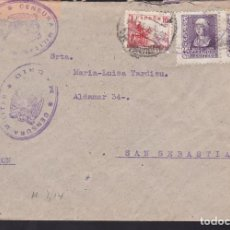 Sellos: CM3-63- GUERRA CIVIL. CARTA MADRID-SAN SEBASTIAN 1938. CENSURAS. Lote 133984770
