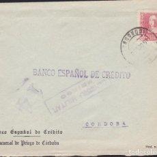 Sellos: CM3-68- GUERRA CIVIL. CARTA PRIEGO DE CORDOBA 1939. LOCAL Y CENSURA. Lote 134020250