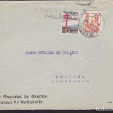 Sellos: CM3-70- GUERRA CIVIL. CARTA VALLADOLID 1939. TUBERCULOSOS Y CENSURA . Lote 134020838