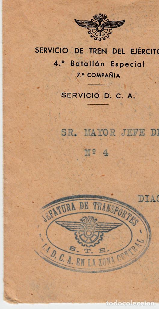 Sellos: CARTA GUERRA CIVIL -FRANQUEO MECÁNICO BANESTO -1938-SERVICIO DE TREN DEL EJERCITO - Foto 2 - 134712246