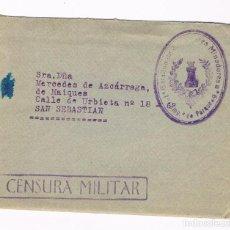 Sellos: GALLUR - SAN SEBASTIAN 1938 CENSURA MILITAR - SOBRE Y CARTA. Lote 135340890