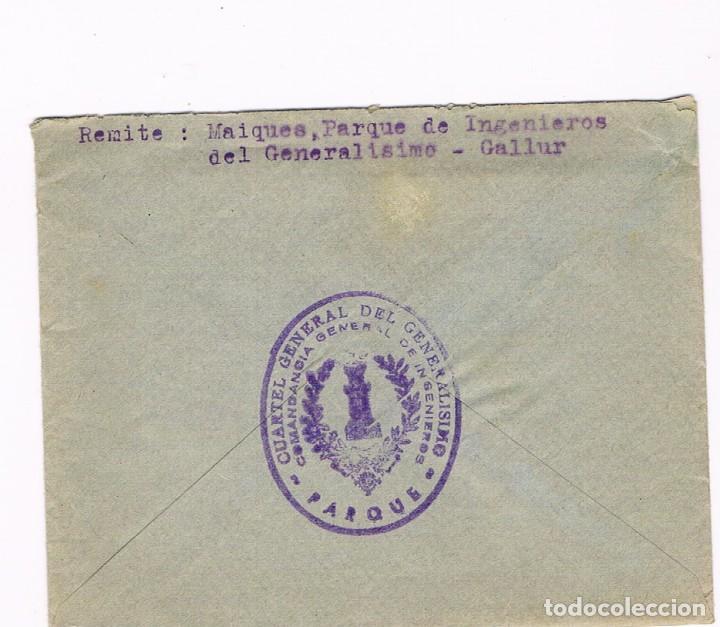 Sellos: GALLUR - SAN SEBASTIAN 1938 CENSURA MILITAR - SOBRE Y CARTA - Foto 3 - 135340890