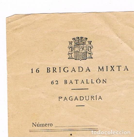 Sellos: GUERRA CIVIL 16 BRIGADA MIXTA 62 BATALLON - Foto 2 - 135344950