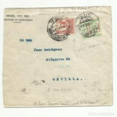 Sellos: CIRCULADA 1937 DE SANLUCAR DE BARRAMEDA CADIZ A SEVILLA CON CENSURA MILITAR VER FOTO. Lote 135412922