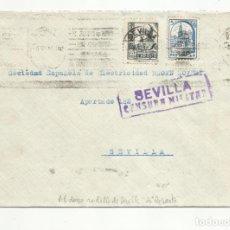 Sellos: CIRCULADA 1937 DE HELIOPOLIS A SEVILLA CON CENSURA MILITAR VER FOTO. Lote 135414398