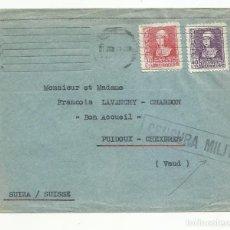 Sellos: CIRCULADA 1939 A PUIDOUX SUIZA CON CENSURA MILITAR. Lote 135416222