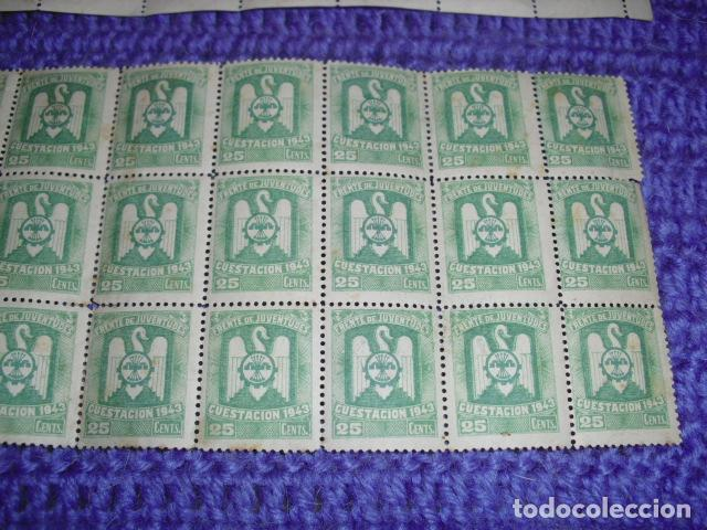 Sellos: 80 SELLOS FRENTE DE JUVENTUDES - CUESTACIÓN 1943 - - Foto 3 - 135529398