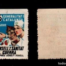 Sellos: GUERRA CIVIL GG-2139 CSG CONSELL DE SAN ITAT DE GUERRA - GENERALITAT DE CATALUNYA 3ª SERIE SIN FIJ. Lote 135568978