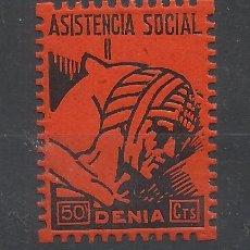 Sellos: ASISTENCIA SOCIAL DENIA 50 CTS NUEVO*. Lote 135654223