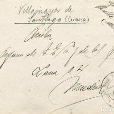 Sellos: ESPAÑA. GUERRA CIVIL. HA POSTAL. FRONTAL DE VILLAMAYOR DE SANTIAGO A DIARIO ARRIBA MADRID. 1947.. Lote 135784226