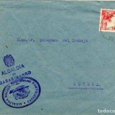 Sellos: ESPAÑA. GUERRA CIVIL. POSGUERRA. CUENCA. SOBRE DE CASASIMARRO A CUENCA 1941. MARCA DEL AYUNTAMIENTO. Lote 135786366