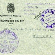 Sellos: ESPAÑA. G. CIVIL. POSGUERRA. CUENCA. TORREJONCILLO DEL REY A CUENCA 1940.FRANQUICIA DEL AYUNTAMIENTO. Lote 135788574