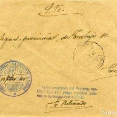 Sellos: ESPAÑA. G. CIVIL. POSGUERRA. CUENCA. SAN LORENZO DE LA P. A CUENCA 1940.FRANQUICIA DEL AYUNTAMIENTO.. Lote 135790246