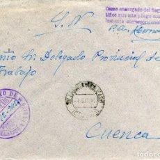 Sellos: ESPAÑA. GUERRA CIVIL. POSGUERRA. CUENCA. VILLAESCUSA DE HARO A CUENCA 1942. FRANQUICIA DEL AYUNTAM. Lote 135791358