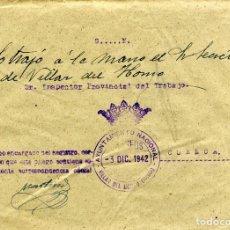 Sellos: ESPAÑA. GUERRA CIVIL. POSGUERRA. CUENCA. VILLAR DEL HORNO A CUENCA 1942. FRANQUICIA DEL AYUNTAMIENT.. Lote 135791754