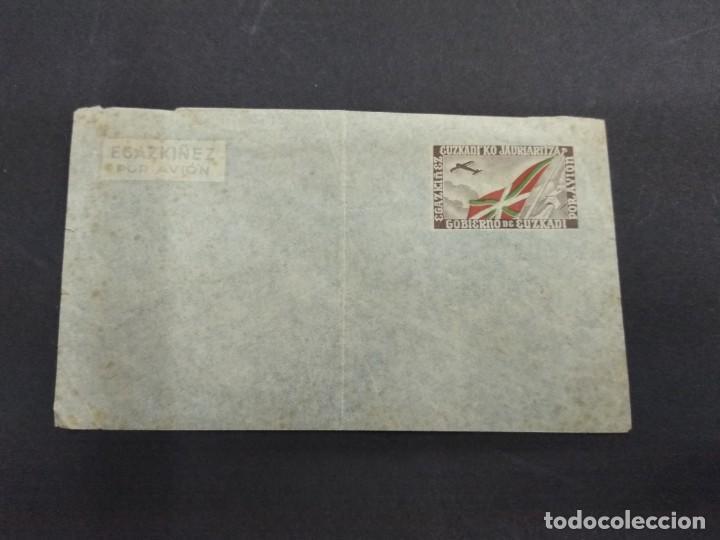 Sellos: SOBRE CON AEROGRAMA GOBIERNO DE EUZKADI JAURLARITZA ORIGINAL PAIS VASCO - Foto 2 - 135815794