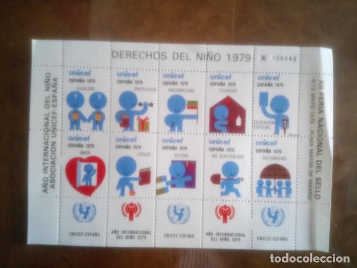 UNICEF, XII FERIA NACIONAL DEL SELLO (Sellos - España - Guerra Civil - Viñetas - Nuevos)