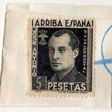 Francobolli: JOSE ANTONIO PRIMO DE RIVERA - 5 PESETAS - PIZARRA - SIN VALOR POSTAL. . Lote 135909798