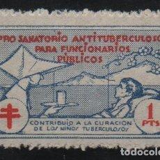 Sellos: PRO-TANATORIO ANTITUBERCULOSAS.. 1 PTA,. VER FOTO. Lote 136174194