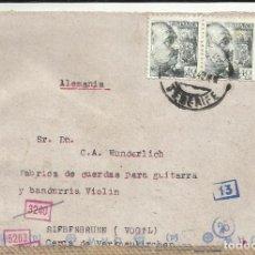 Sellos: CIRCULADA 1942 DE TENERIFE A ALEMANIA CON CENSURA MILITAR ALEMANA. Lote 136206294