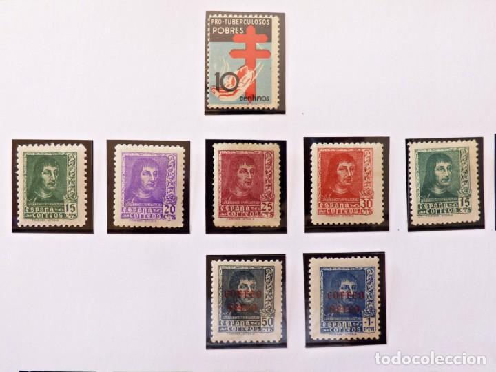 FERNANDO EL CATÓLICO 1938 Y PRO TUBERCULOSOS POBRES 1937 (Sellos - España - Guerra Civil - De 1.936 a 1.939 - Nuevos)