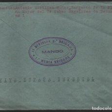 Selos: CARTA DEL SARGENTO PLANA MAYOR, 7º TABOR REGULARES ,11 DIVISION,2ª BRIGADA, 1º MEDIA Y C.M.MARCHENA. Lote 136685818