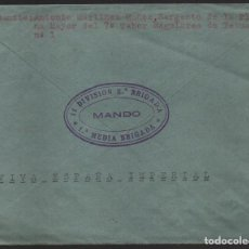 Francobolli: CARTA DEL SARGENTO PLANA MAYOR, 7º TABOR REGULARES ,11 DIVISION,2ª BRIGADA, 1º MEDIA Y C.M.MARCHENA. Lote 136685818