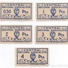Sellos: SELLO LOCAL GUERRA CIVIL. CUENCA, CENTRAL NACIONAL SINDICALISTA. - ORD:212. Lote 136687562
