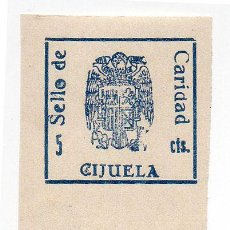 Sellos: SELLO LOCAL GUERRA CIVIL CIJUELA -CAT. GALVEZ B194T Y B198. ORD:222. Lote 136687606