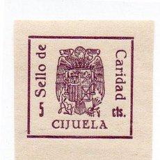 Sellos: SELLO LOCAL GUERRA CIVIL CIJUELA -CAT. GALVEZ B193T Y 197. ORD:223. Lote 136687610