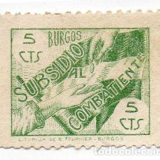 Sellos: SELLO LOCAL GUERRA CIVIL BURGOS -CAT. GALVEZ B111. ORD:233. Lote 136687786
