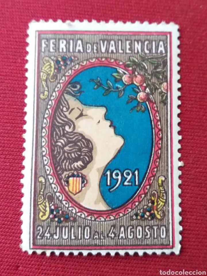 FERIA DE VALENCIA. 1921. VIÑETA (Sellos - España - Guerra Civil - Viñetas - Usados)