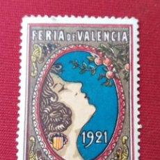 Sellos: FERIA DE VALENCIA. 1921. VIÑETA. Lote 137241978