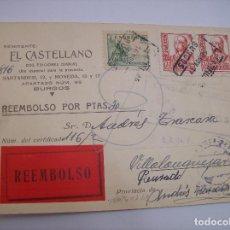 Sellos: TARJETA POSTAL DIARIO EL CASTELLANO BURGOS 1937. Lote 137318870
