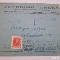 Sellos: SOBRE JERONIMO ARCOS BURGOS 1938. Lote 137319214